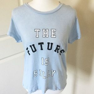 NEW Wildfox 'The Future is Silly' graphic tee Sz S